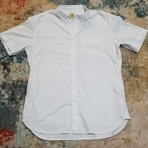 True Craft short sleeved button up shirt